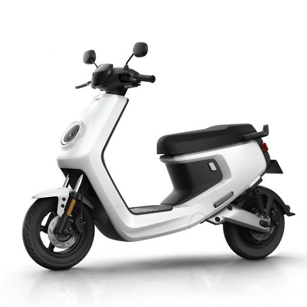 moto electrica M blanca